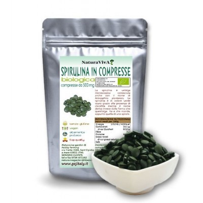 125 gr. ALGA SPIRULINA IN COMPRESSE BIOLOGICA 500mg