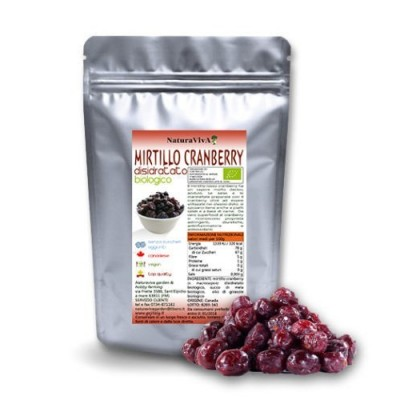 BACCHE DI CRANBERRIES BIOLOGICI INTERI - 250 GR