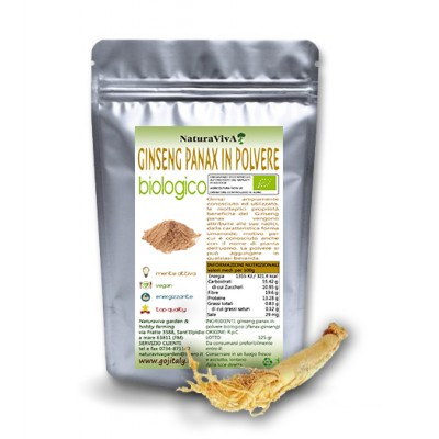 60 gr. GINSENG PANAX BIOLOGICO IN POLVERE